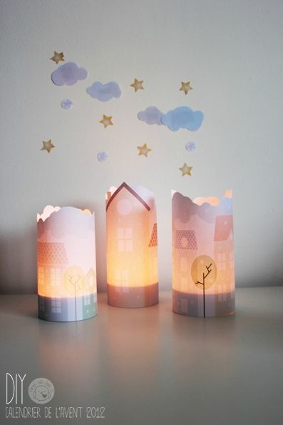 DIY Paper House Lantern with Free Printable Template