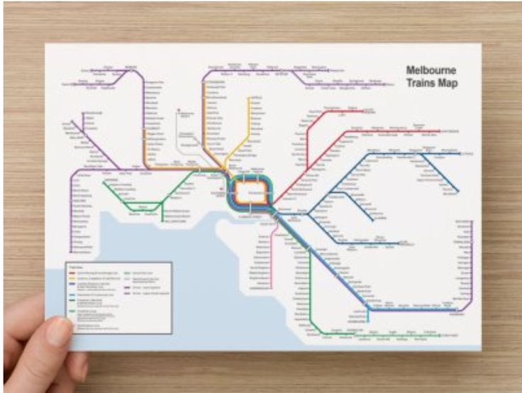 This is Melbourne Australia Tram Rail Metro Pocket Map. Easy to carry everywhere! Perfect to attach to your notebook or Kikki.K Diary, so you will easily navigate to find your tram line and transit stations. Convenient for everyone to use!
