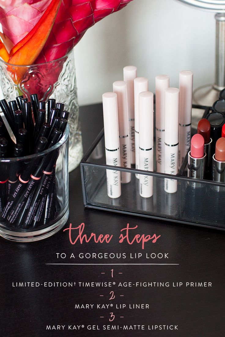 Create the perfect lip look with these new products for your pout! Our Limited-Edition† TimeWise® Age-Fighting Lip Primer fights the look of fine lines and wrinkles on and around the lips, and helps prevent feathering and bleeding of lipstick and lip gloss. | Mary Kay
