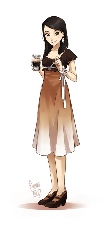 She looks like my friend Madison from last year! We miss you~! Vietnamese iced coffee by meago.deviantart.com