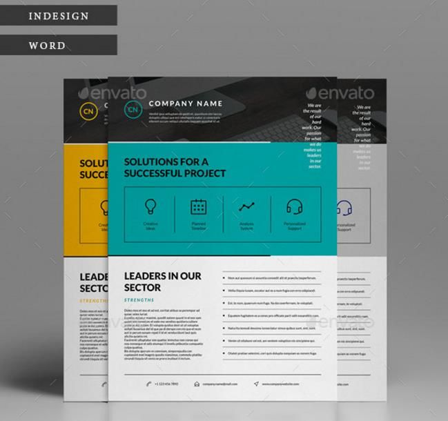 Print Ready MS Word Flyer Templates For Multipurpose
