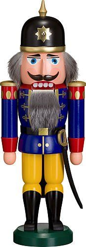 German nutcracker soldier blue height 37 cm  15 inch original Erzgebirge by Seiffener Volkskunst ** Continue to the product at the image link.