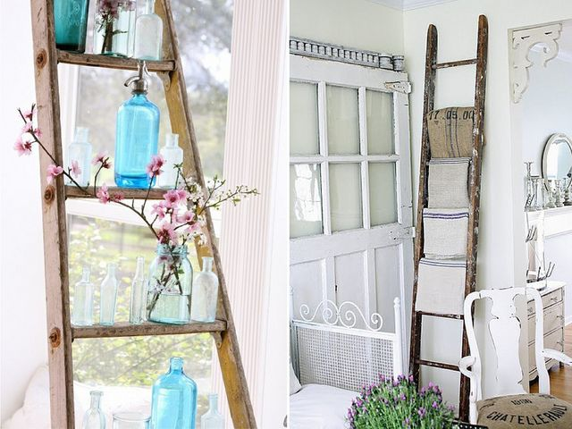I will have ladder shelving in the future.
