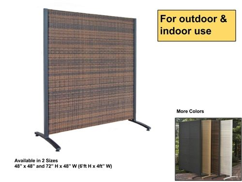 Free Standing Outdoor Wicker Partition Panel Outdoor