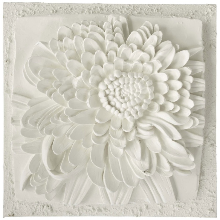 chrysanthemum 3d plaster art on canvas bellaartista