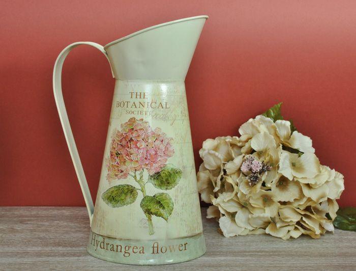 Wysoki dzban zdobiony motywem hortensji / Tall Vase with Hortensia Botanical Collection