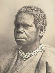 Truganini in 1866   (photograph by Charles Wooley)