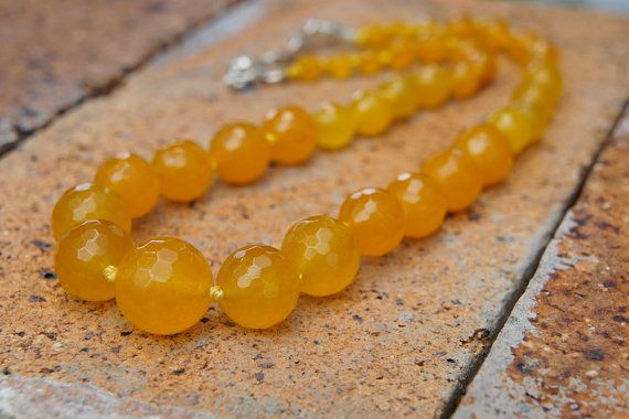 Check out this item in my Etsy shop https://www.etsy.com/listing/224646286/yellow-agate-agate-necklace-semi