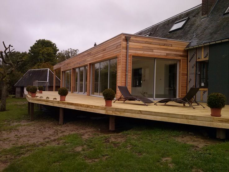 Accoya® wood used for decking on a private residence in France. #accoya #wood