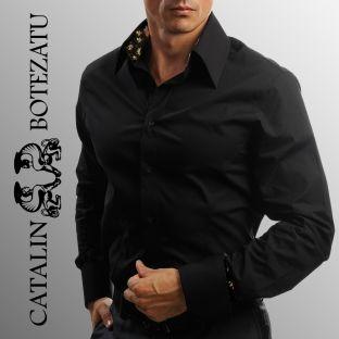 """Camasile cu guler inalt sunt un """"must have"""" datorita masculinitatii si elegantei emanate."""