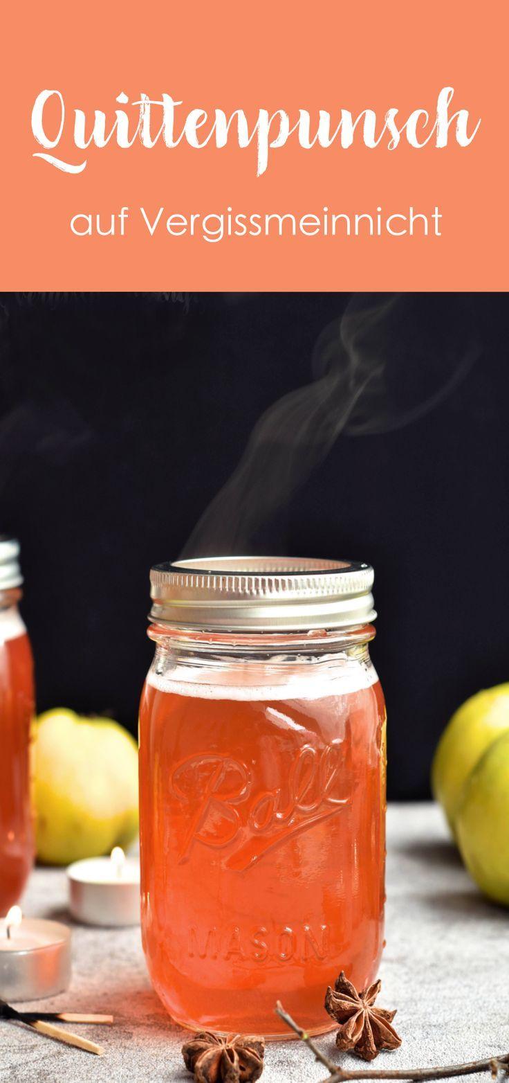 Ein leckerer Quittenpunsch aus Apfelquitten. Ein perfektes Rezept für ein warmes Getränk im Winter.