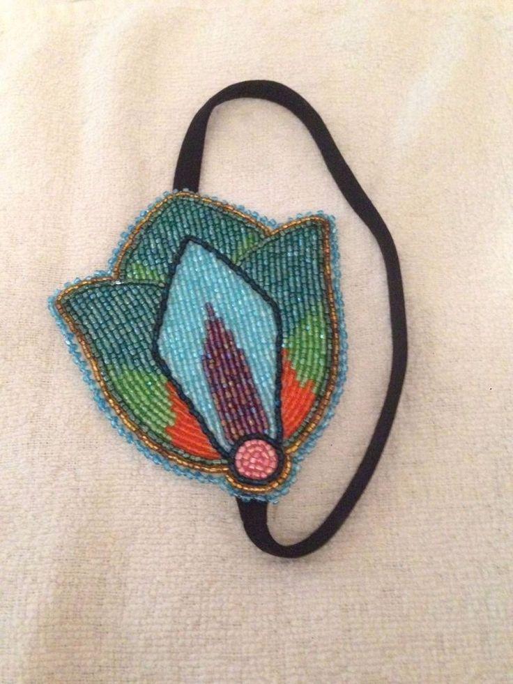 Native american beaded rosettes strips headbands, sex men penis
