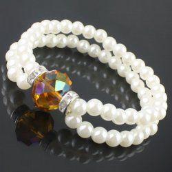 Magnifique bracelet en cristal jaune