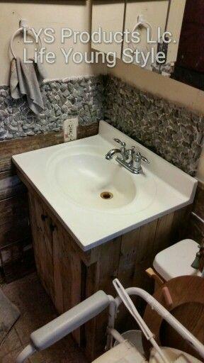 Wonderful  Pallet Vanity On Pinterest  Pallets Vanities And Cheap Bathroom