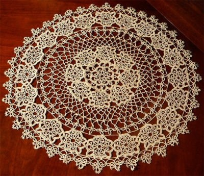 Antique Round TATTED Lace