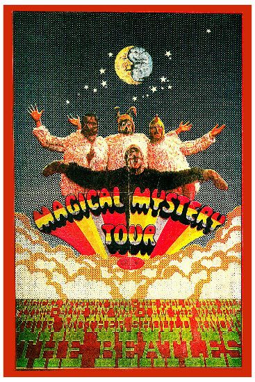 """Beatles - The Beatles """"Magical Mystery Tour"""" Poster 1968 in British Invasion Music Posters"""