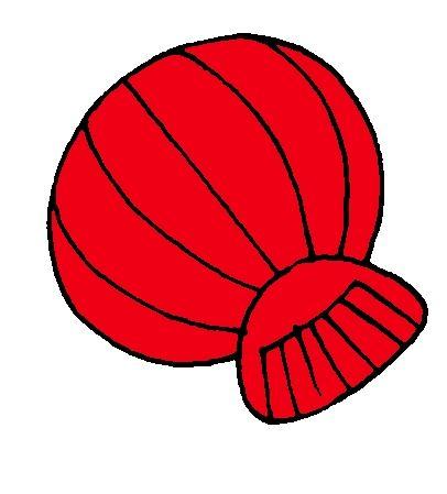 Rode schelp van kleurenspel