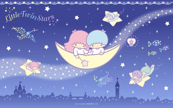 【Android iPhone PC】Little Twin Stars Wallpaper 2016 七月桌布 日本官方電子報