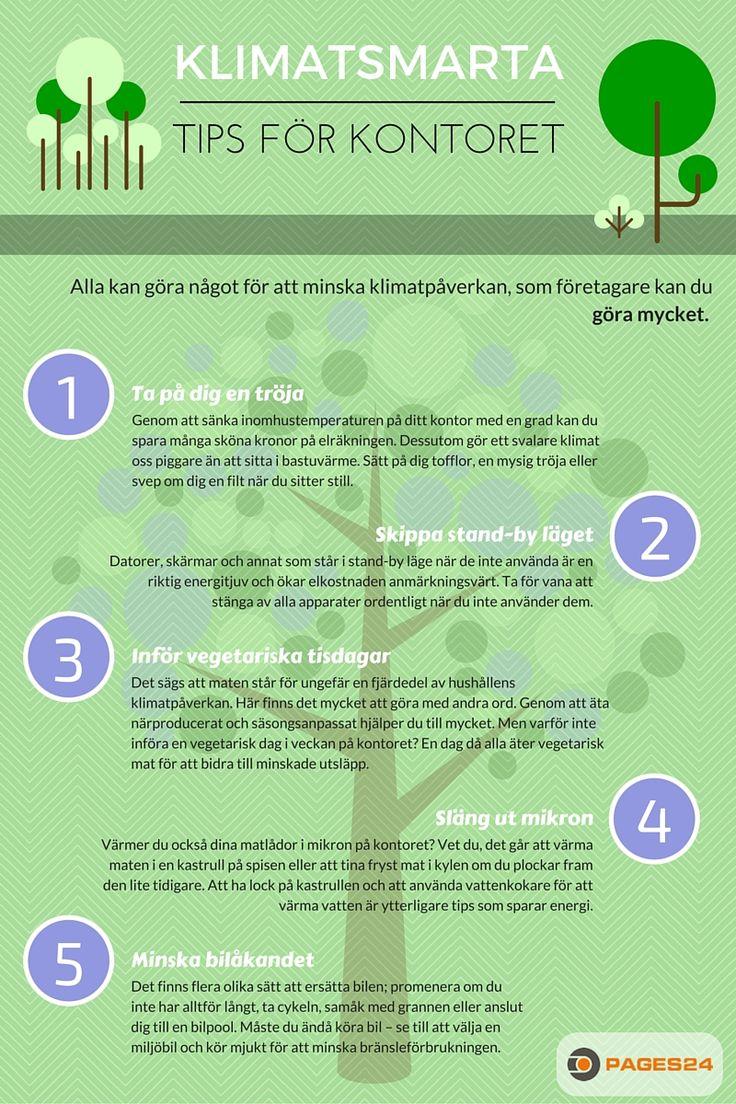 Infografik: klimatsmarta tips för kontoret