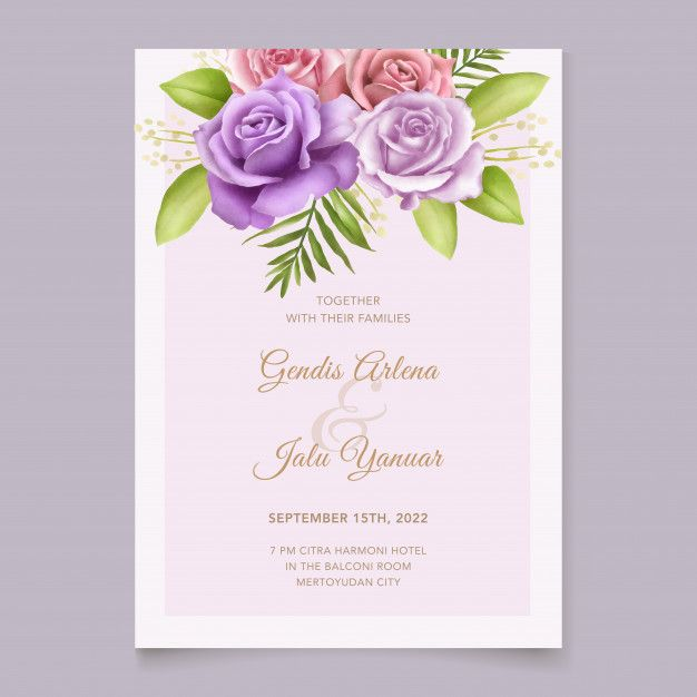 Simple Wedding Birthday Invitation Template Psd Wedding Invitation Card Template Simple Wedding Invitations Simple Invitation