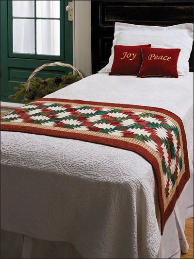 Quilting - Holiday & Seasonal Patterns - Christmas Patterns - Christmas Hospitality Runner