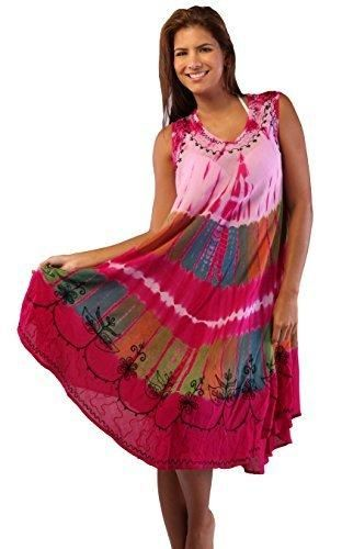 27aad8a7df2 INGEAR Fashion Tie Dye Cover Up Summer Hawaiian Poncho Print Tunic Hem –  Videos.Images
