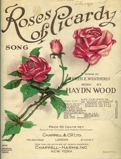 "1916 - ""Roses of Picardy"" Sheet Music.  The song was one of the most popular in WW1.  Here's a link to hear it.  I think it's kind of pretty: https://www.youtube.com/watch?v=DLGQE5kdXv0"