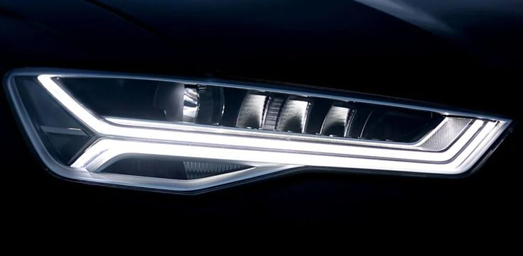 The new Audi RS headlamps with LED matrix