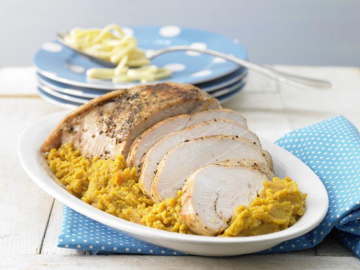 Putenbraten mit Gemüsepüree - Kochen für viele Kinder - smarter - Kalorien: 337 Kcal - Zeit: 25 Min. | eatsmarter.de