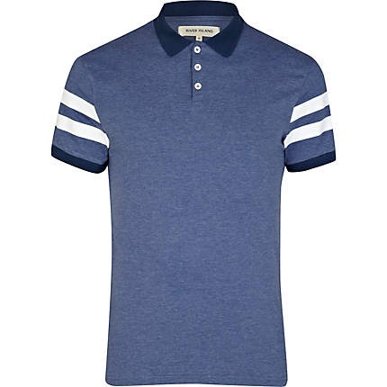 Men's varsity stripe sleeve polo shirt #riverisland