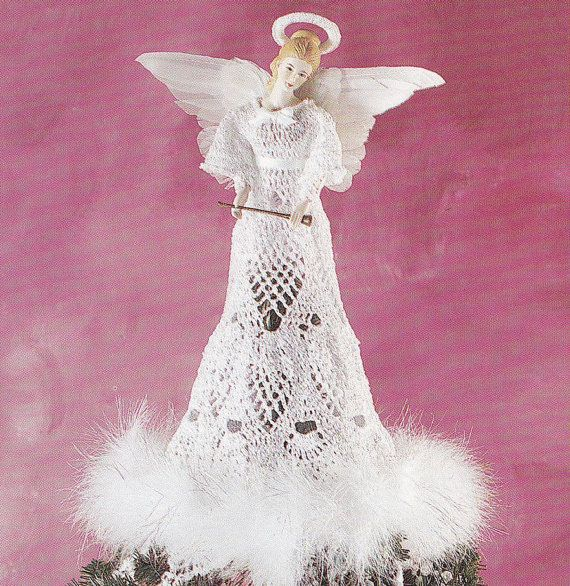 Free Crochet Patterns Christmas Tree Topper : 17 Best images about Crocheted angels on Pinterest ...