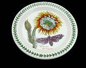 Portmeirion Botanic Garden Cactus Grandiflorus Night Flowering Cereus Salad Plate 8.5, Rare Mint Vintage China Made in England