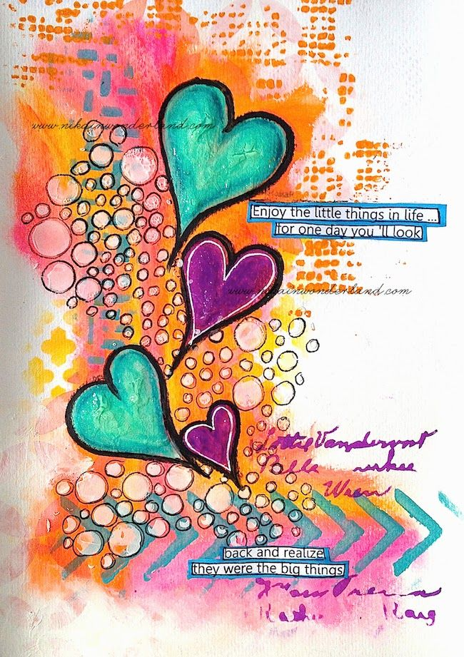 ART JOURNALING WITH GELATOS & DYLUSIONS PAINTS | Nika In Wonderland Art Journaling and Mixed Media Tutorials