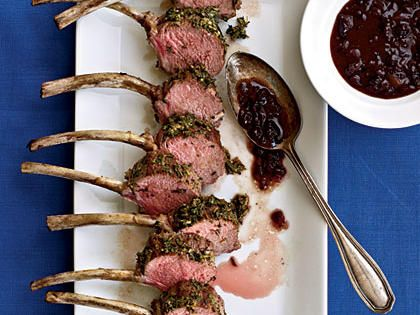 Herbed Rack of Lamb with Lingonberry Sauce Recipe | MyRecipes