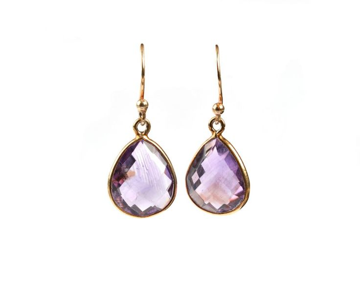 RAINDROP EARRINGS AMETHYST - Syster P
