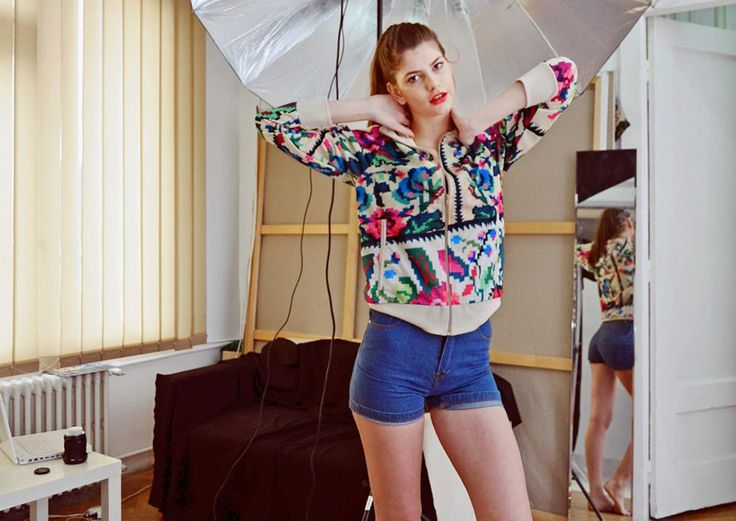 Laura Giurcanu, the Next Top Model winner, www.facebook.com/LauraGiurcanuNTM2?fref=ts Puma Etno Star Jacket by Lana Dumitru  #lana #dumitru #lanadumitru #digitalprint
