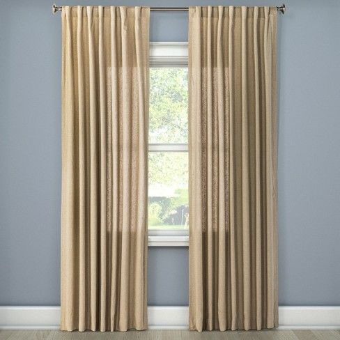 Linen Look Curtain Panel Threshold Dc App Panel Curtains