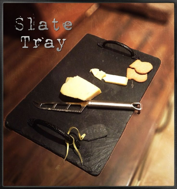 Slate cheese board, made from a roof tile.