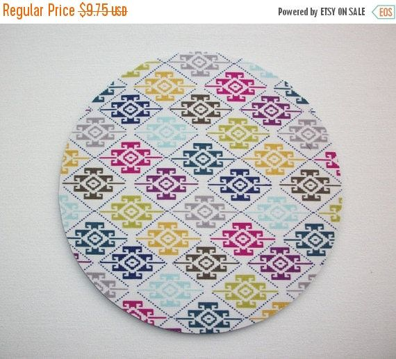 SALE - Mouse Pad mouse pad / Mat - aztec southwestern shapes round or rectangle office accessories desk home decor