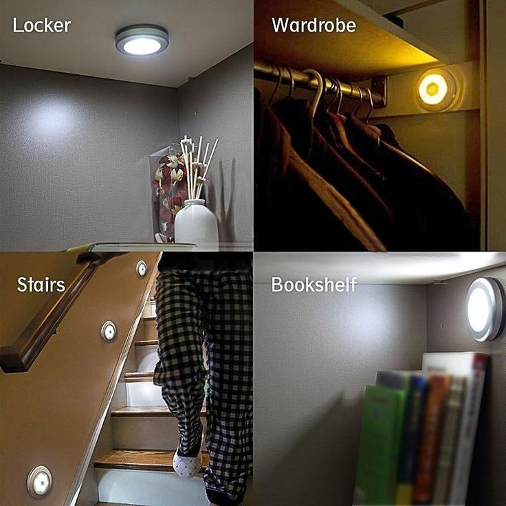 Light Wireless Pir Motion Sensor Lamp Led 6 Night Wall Detector Auto Cabinet Inf #LumiParty
