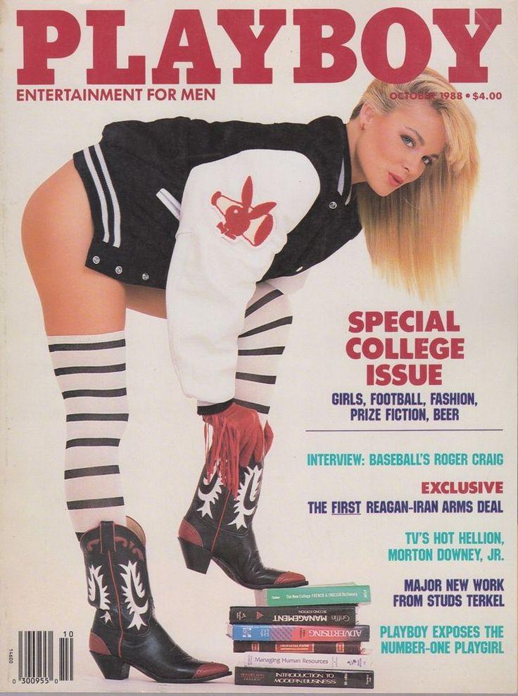 OCTOBER 1988 PLAYBOY MAGAZINE JULY PLAYMATE TERRI LYNN DOSS COLLEGE GIRL COVER