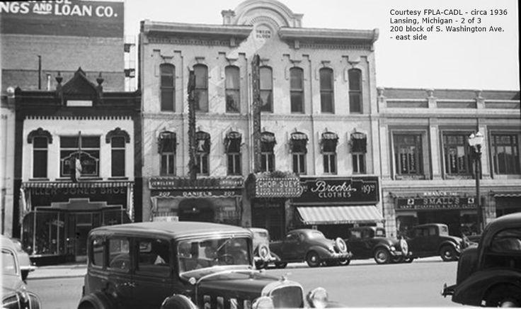 https://flic.kr/p/Ba3vL4 | Washington Ave. 200 block east side-2 of 3-circa 1936-Lansing, MI