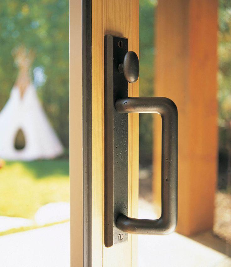 Pella Rocky Mountain Sliding Door Hardware   With Rectangular Escutcheon  And Offset D Grip