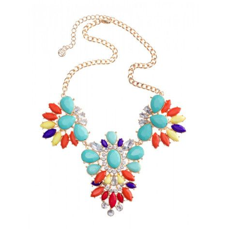 Colette by Colette Hayman Large Flower Stone Necklace