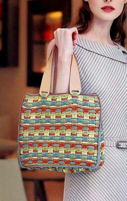 Colorful crochet bag ♥LCB-MRS♥ with diagram