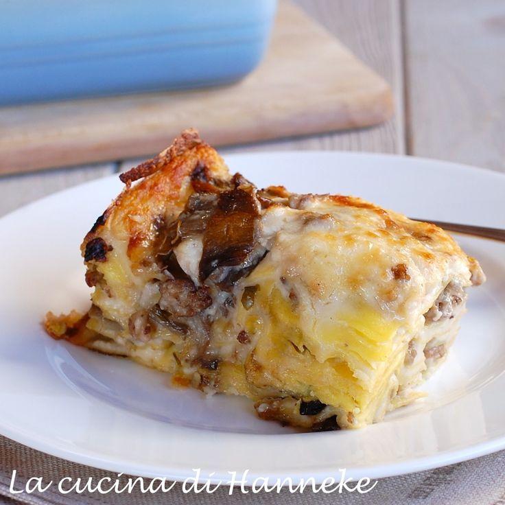 Lasagne al radicchio e salsiccia | La cucina di Hanneke