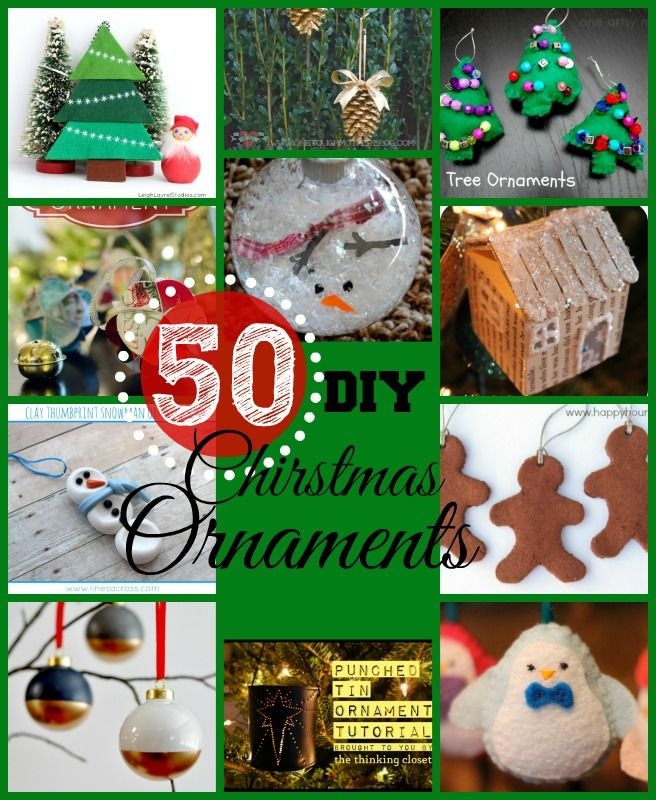 50 DIY Christmas Ornaments @Marissa Jones @Stephanie Forrester - Ideas for Pinterest Party!