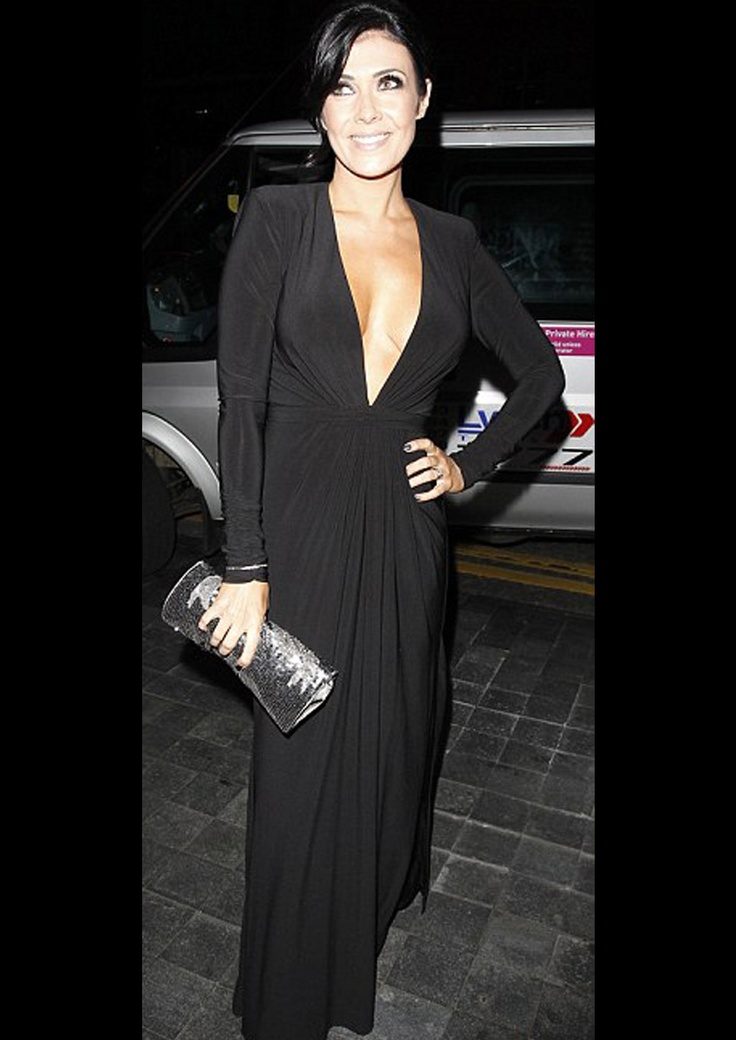 Coronation Street actress Kim Marsh wearing Forever Unique dress Scarlett