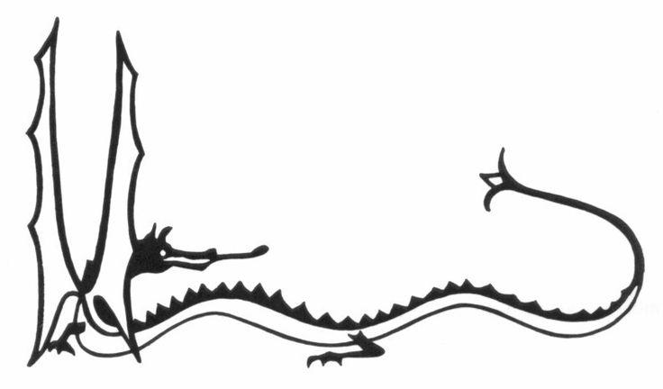 J.R.R. Tolkien's dragon drawing