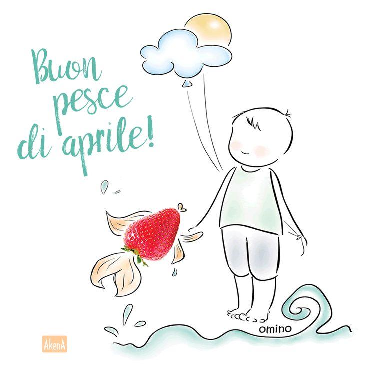 Buon pesce di aprile!! - Illustrazione di Omino